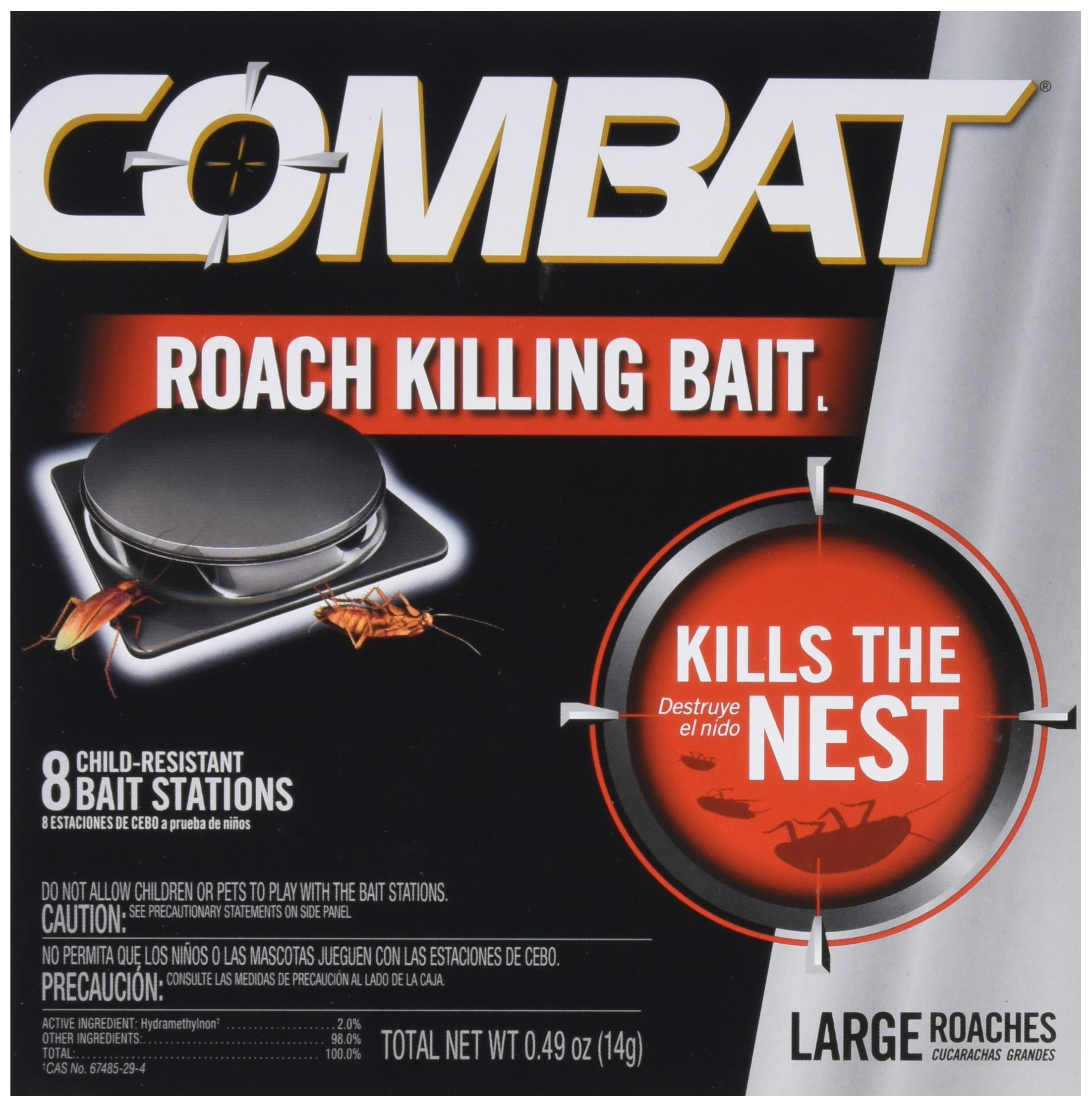 Dial 1358910 Combat Source Kill Large Roach Bait, 8 Count (Pack of 12)