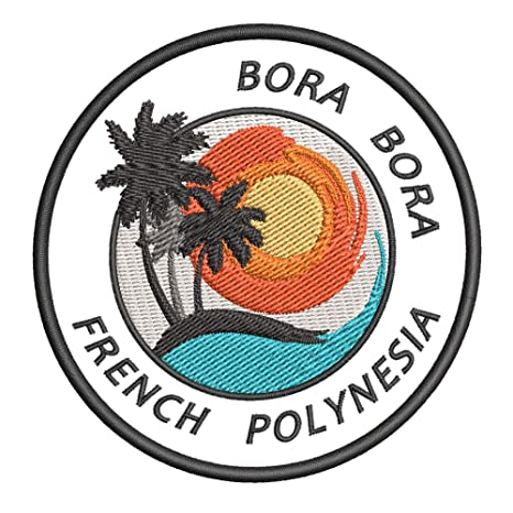 Bora Bora - Parche bordado para planchar o coser, diseño de ...