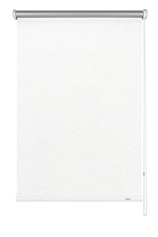 GARDINIA Seitenzug-Rollo mit Thermo-Rückseite, Decken-, Wand- oder Nischenmontage, Höchste Lichtreflektion, Energiesparend, Alle Montage-Teile inklusive, Streifen weiß, 202 x 180 cm (BxH)