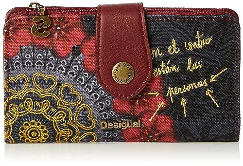 a04d132fab Desigual Basic Red Garden - Portafogli Donna, Rosso (3000), 16x9x1 cm (