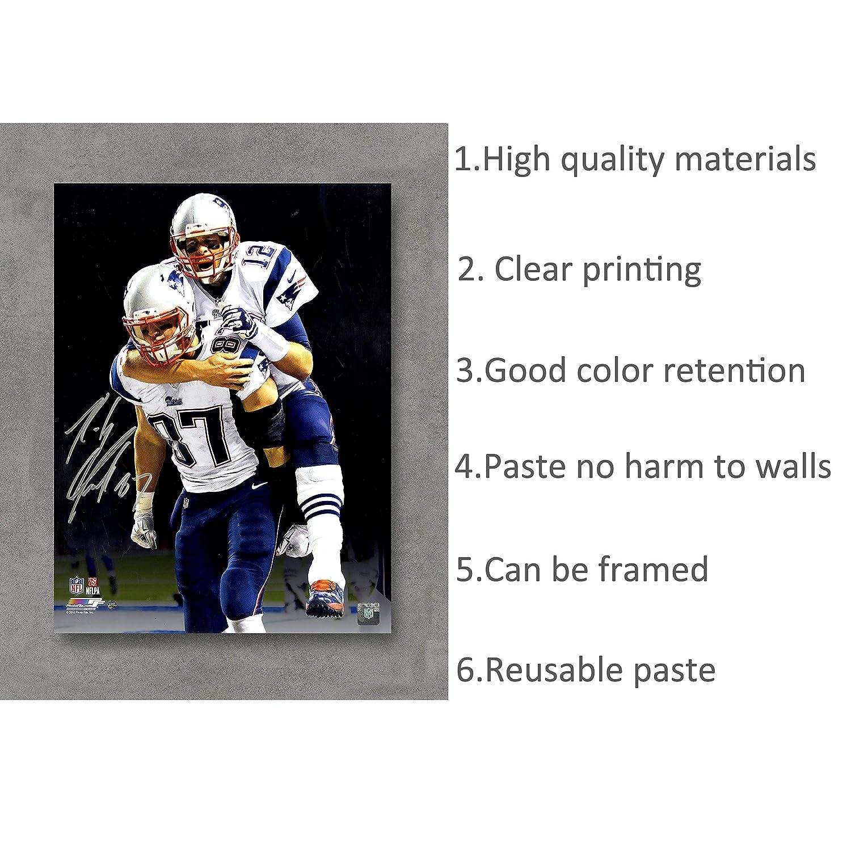 KaiSa Tom Brady Patriots Autographed Replica Poster Art Print Posters,18/×24 Unframed Poster Print