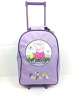 c9a6b66533 Peppa Pig fille sac à roulettes de voyage Bagage à main cabine Valise  Vacances New
