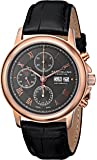 Stuhrling Prestige Men's 362.334554 Swiss-Made Automatic Valjoux 7750 Rose-Tone Stainless Steel and Leather Watch