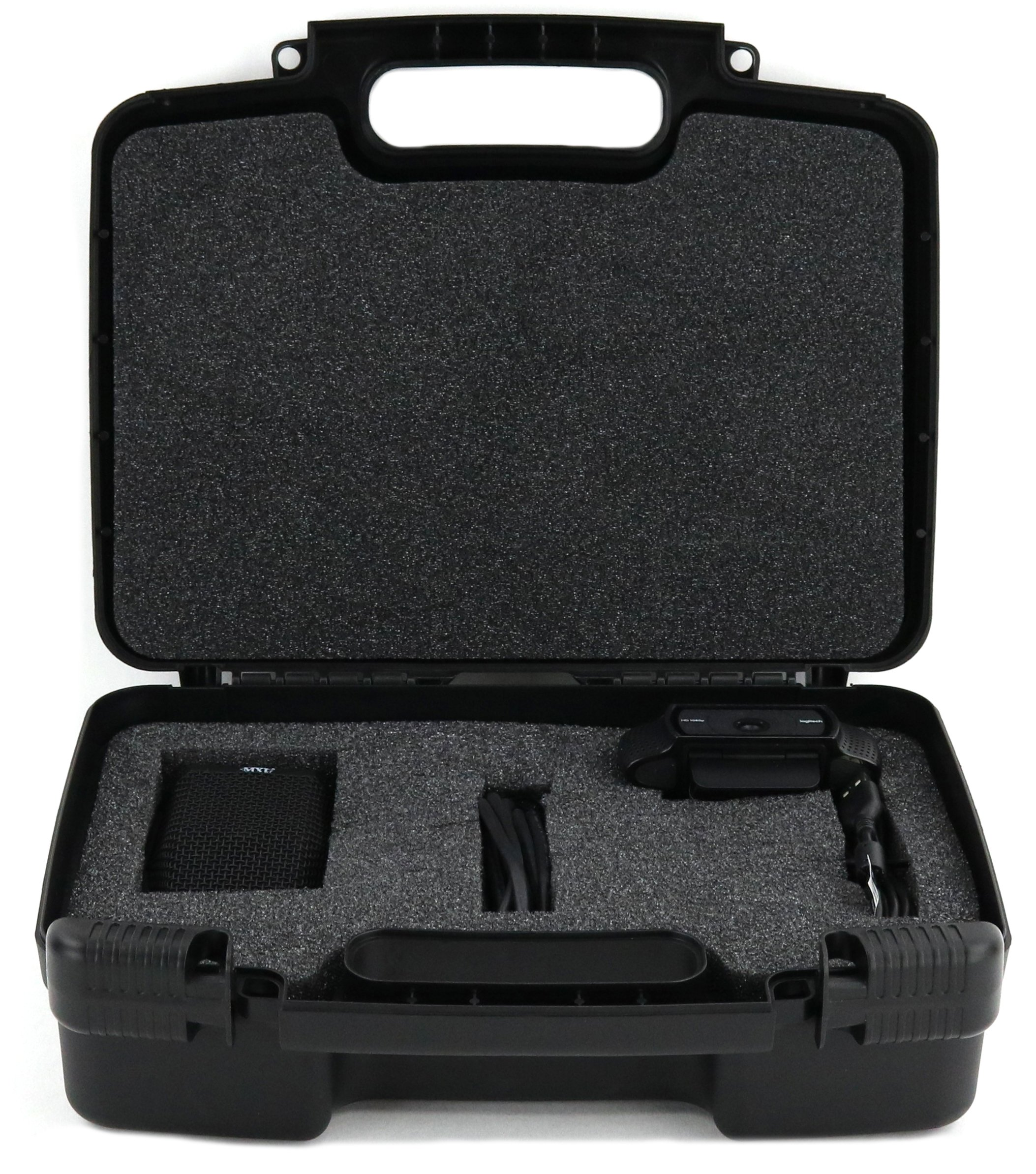 Life Made Better Storage Organizer - Compatible with Logitech HD Pro Webcam C920, C310, C922x, C270, C930e, C615, C525 and Accessories- Durable Carrying Case - Black
