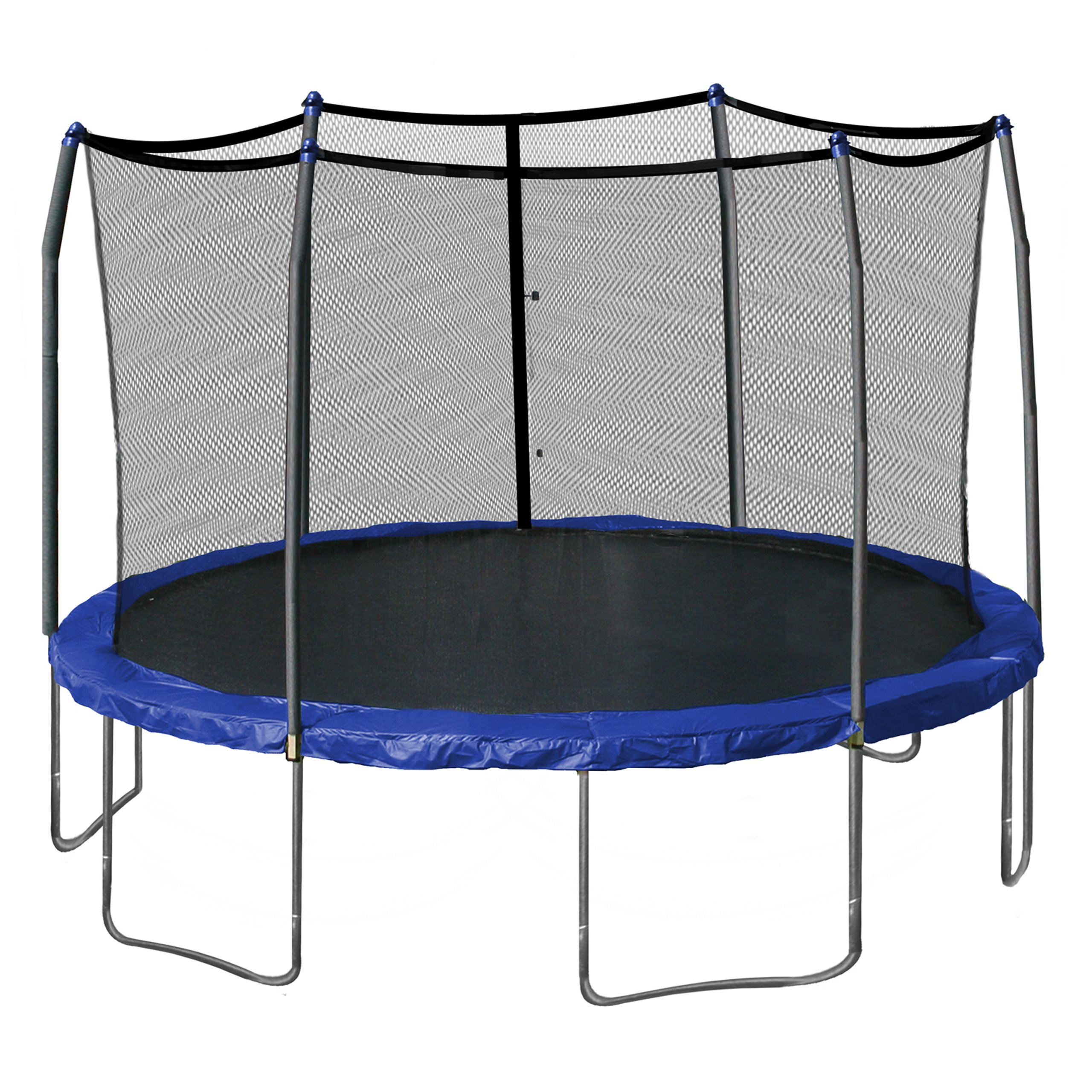 Skywalker Trampolines 15-Foot Round Trampoline and Enclosure with Spring Pad, Blue by Skywalker Trampolines