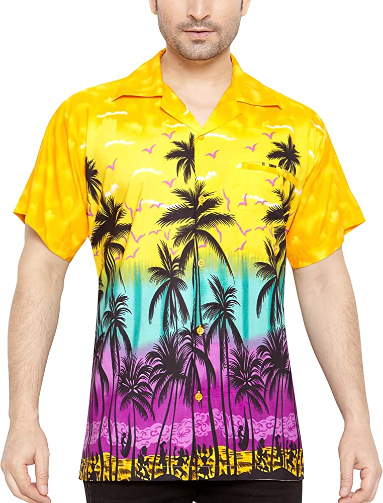 CLUB CUBANA Camisa Hawaiana Florar Casual Manga Corta Ajustado para Hombre XXXXL: Amazon.es: Ropa y accesorios