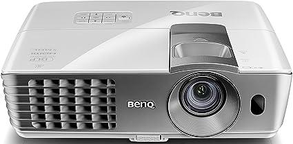 BenQ W1070+ - Proyector DLP 3D FullHD 1080p (2200 Lumens, 2x HDMI, MHL, desplazamiento vertical de lente), color blanco y gris