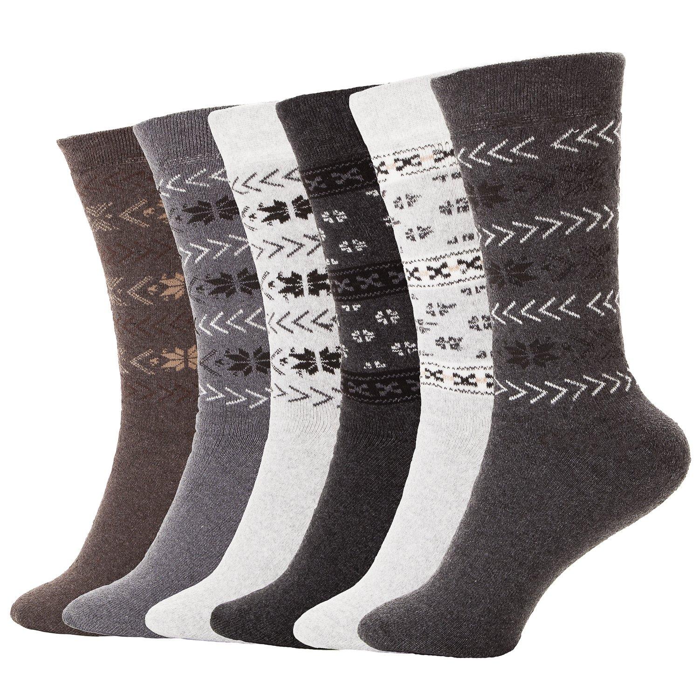 6 Paar BRUBAKER Damen oder Herren Norweger Socken
