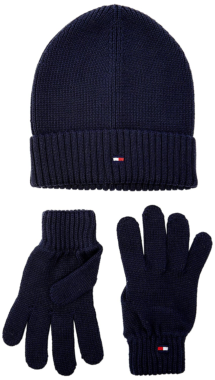Blue Cjm Unica Taglia Produttore: OS Unisex-Adulto Tommy Hilfiger Flag Knit Beanie /& Gloves GP Set Sciarpa Cappello e Guanti,