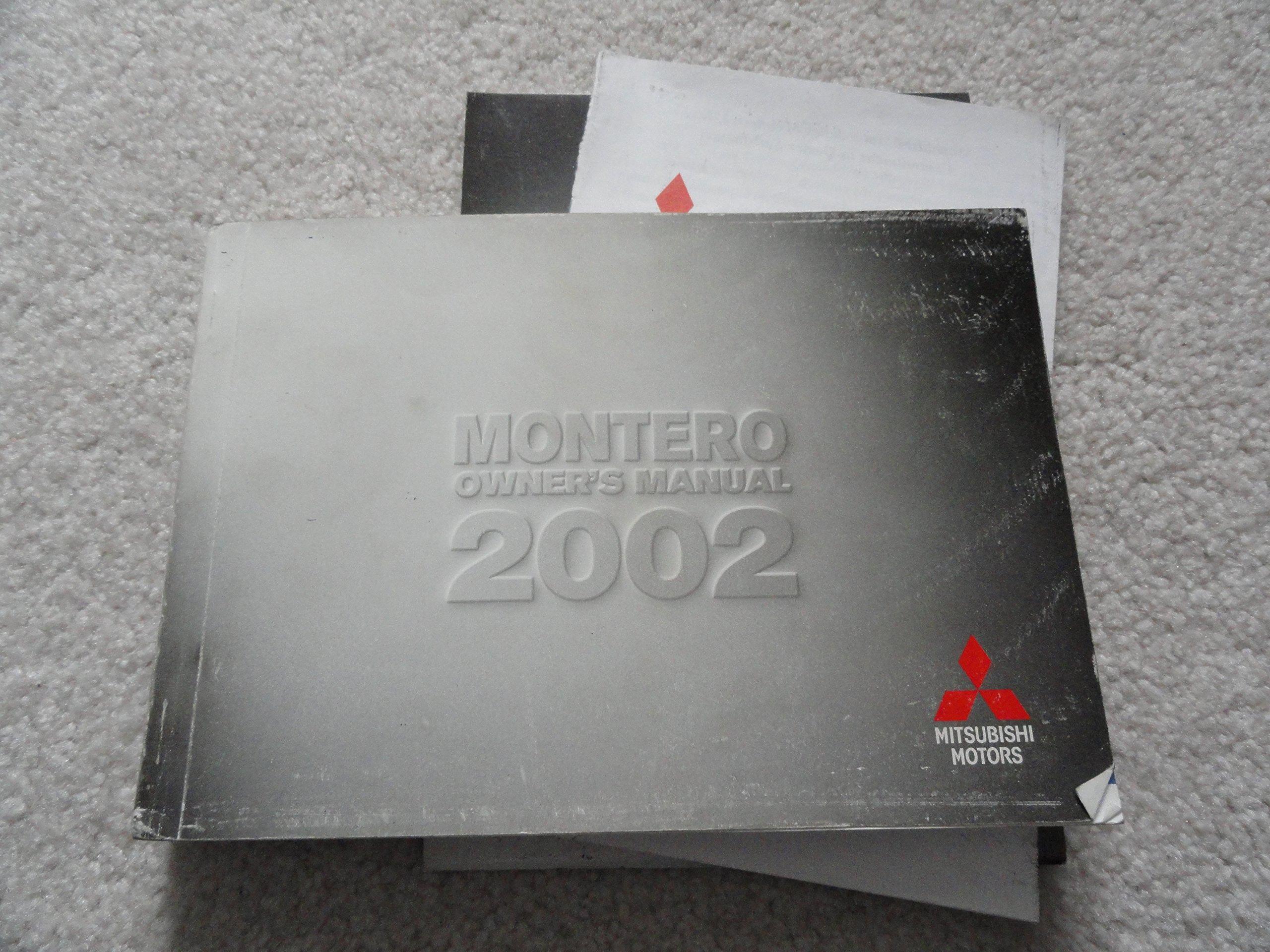 2002 mitsubishi montero sport owners manual mitsubishi amazon com rh amazon com 2000 mitsubishi montero sport repair manual free 2000 Montero Sport Firing Order