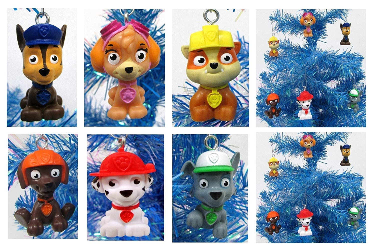 paw patrol holiday christmas tree ornament set