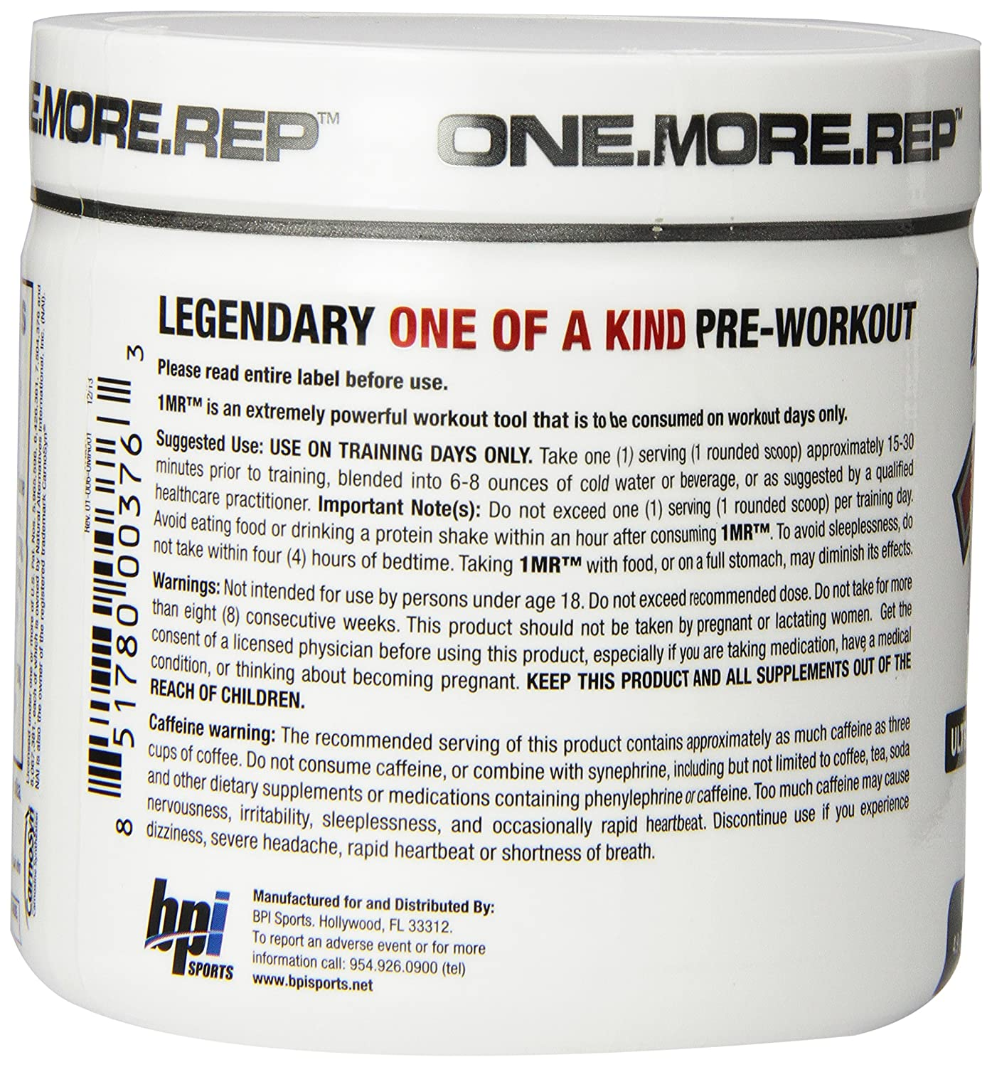 Amazon: Bpi Sports 1mr Ultra Concentrated Preworkout Powder, Fruit  Punch, 49ounce: Health & Personal Care
