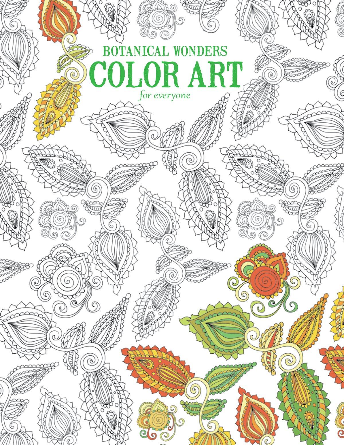 Botanical art coloring book - Amazon Com Botanical Wonders Color Art For Everyone Leisure Arts 6764 9781464754074 Leisure Arts The Guild Of Master Craftsman Publications Ltd