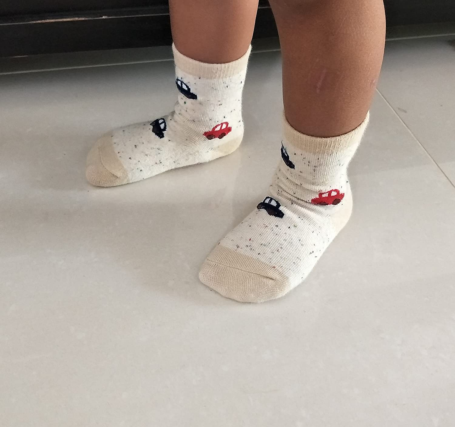 RATIVE RB-71112 Non Skid Anti Slip Crew Socks With Grips For Baby Toddlers Boys