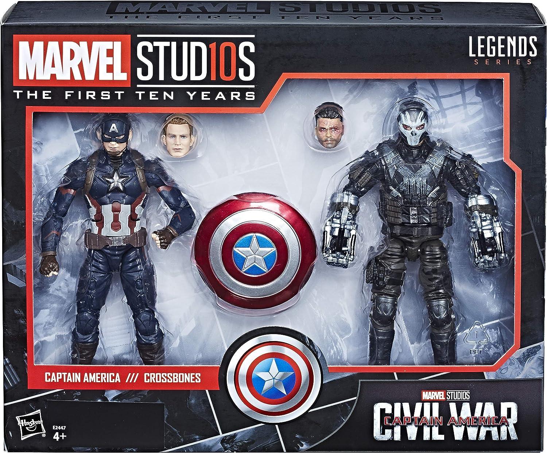 Marvel 10 Aniversario - Pack 2 Figuras de acción Capitán América & Crossbones: Amazon.es: Juguetes y juegos