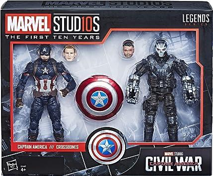 Marvel 10 Aniversario - Pack 2 Figuras de acción Capitán América ...