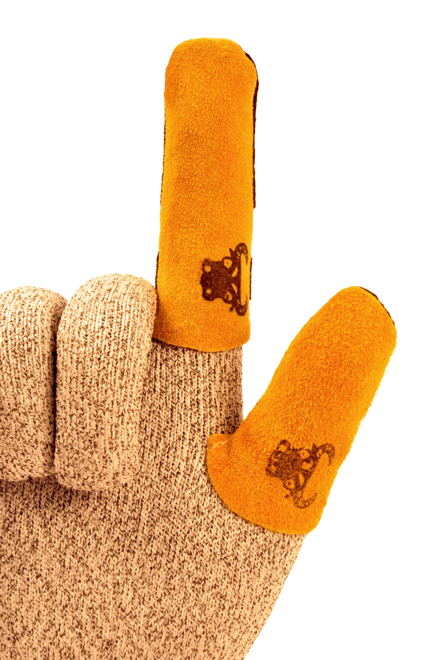 GF Gloves 8126XL-100 Cowhide Leather Thumb Guard, X-Large, Yellow (Pack of 20) by GF Gloves