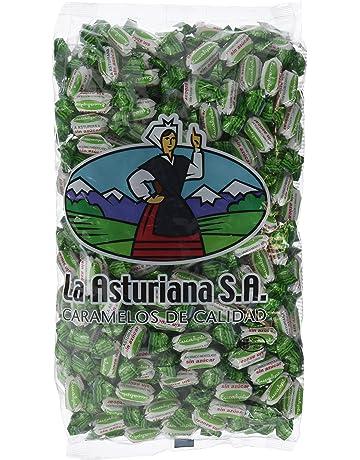 La Asturiana Bolsa de Caramelos de Eucalipto Mentolado sin Azúcar - 1 kg
