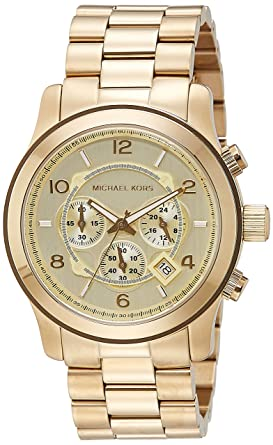 9a83247fa0568 Amazon.com  Michael Kors MK8077 Gold-Tone Men s Watch  Michael Kors ...