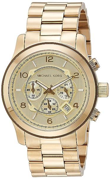 Michael Kors Reloj Cronógrafo para Hombre de Cuarzo con Correa en Acero Inoxidable MK8077: Michael Kors: Amazon.es: Relojes