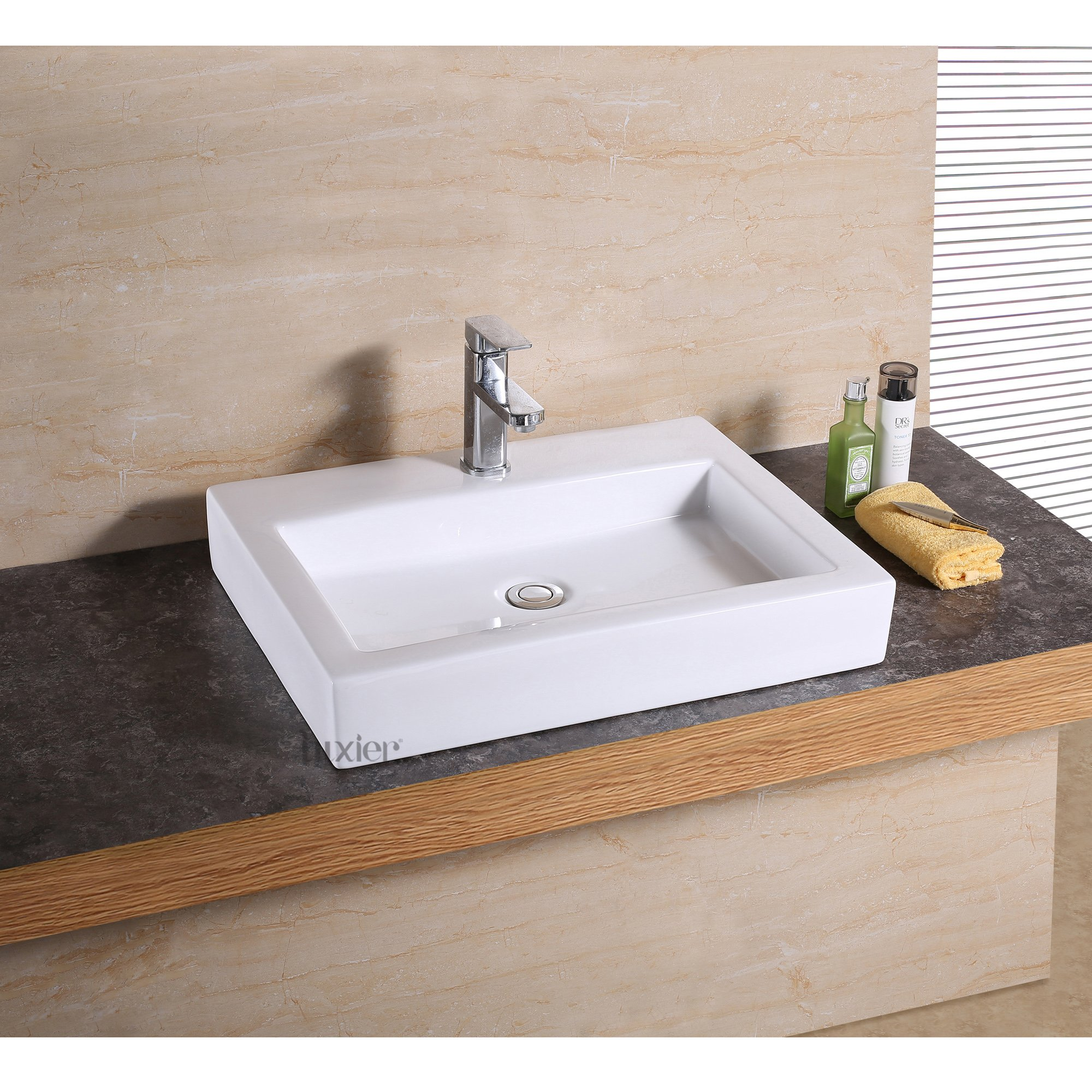 Luxier CS-021 Bathroom Porcelain Ceramic Vessel Vanity Sink Art Basin