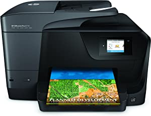 HP OfficeJet Pro 8710 Wireless All-in-One Photo Printer with Mobile Printing, Instant Ink ready (M9L66A) (Renewed)