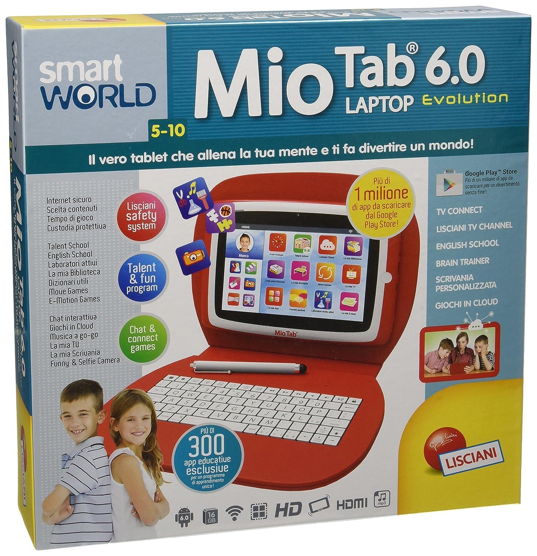 Lisciani Giochi Smart World Mio Tab 6.0 Laptop Evolution, 55647 Liscianigiochi Italy