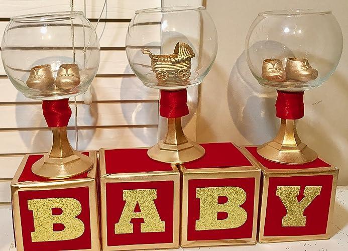 Royal Prince Baby Shower Bundle Red U0026 Gold