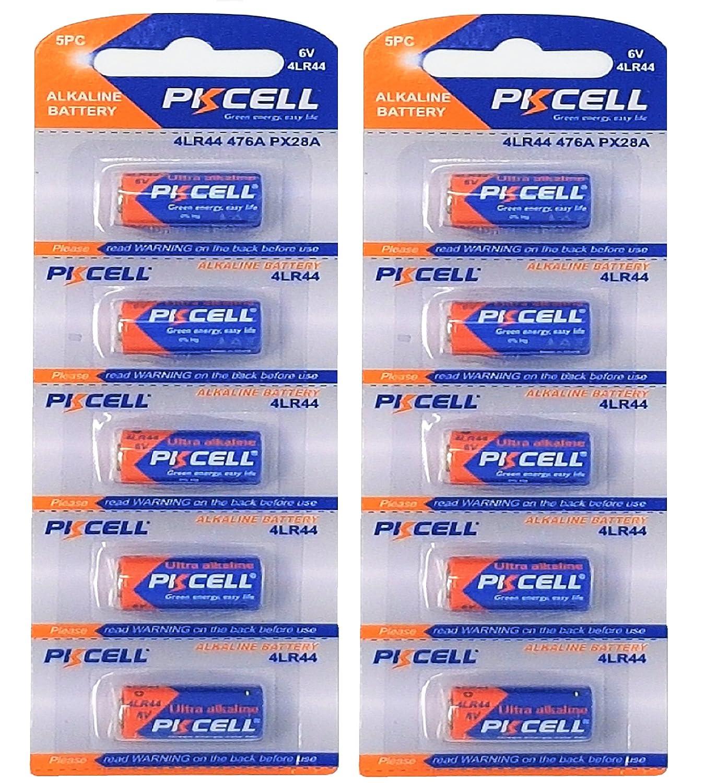 1 Blister a 4 Batterien Quecksilberfreie Alkaline Batterien EASTCELL 4 x4LR44 6V