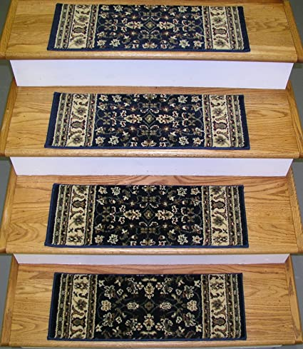 1d6bc497c7 Rug Depot 148712 Traditional Oriental Non Slip Carpet Stair Treads - Set of  13 Treads 26