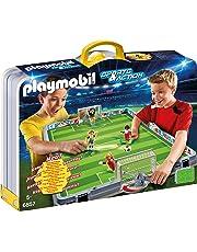 Playmobil 6857 - Campo da Calcio Pieghevole, Multicolore