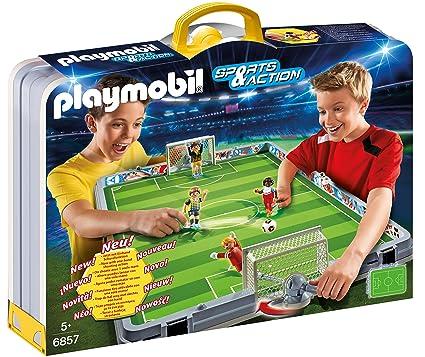 Playmobil - 6857 - Terrain de Football transportable  Amazon.fr  Jeux et  Jouets f509fef1fb73