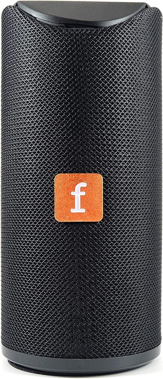 Altavoz Portátil Bluetooth Color Negro. Reproductor USB. Función Manos Libres para Móvil. Speaker Inalámbrico Splashproof.