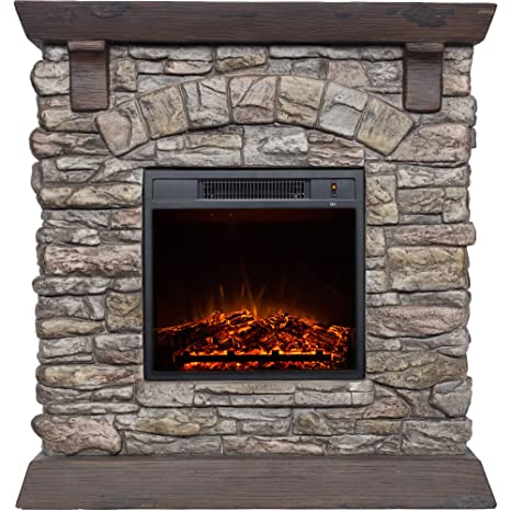 Super Amazon Com Decor Flame 38 Electric Fireplace Home Kitchen Download Free Architecture Designs Meptaeticmadebymaigaardcom