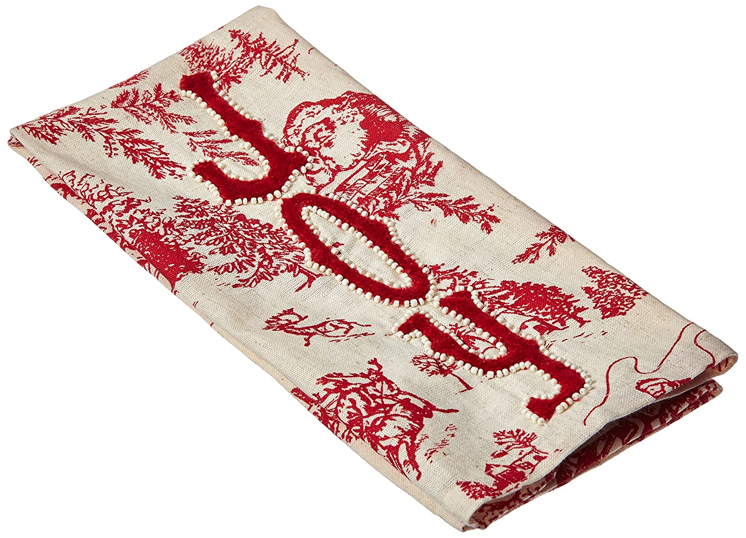 Mud Pie Joy Toile Towel 4404235J