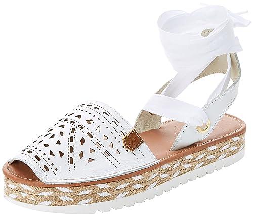 MENORQUINAS POPA MICONOS, Sandalias con Plataforma para Mujer, Blanco (White) 39 EU: Amazon.es: Zapatos y complementos