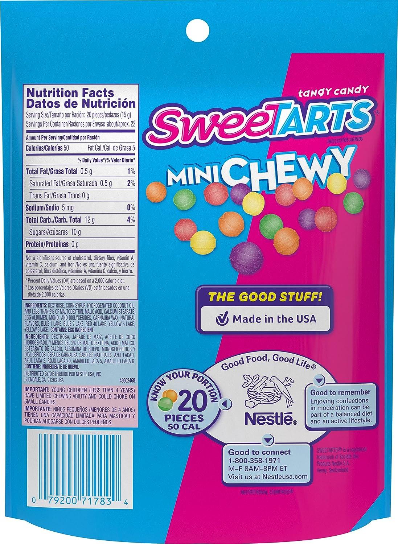 Amazon.com : SweeTARTS Mini Chewy Candy Resealable Bag, 12 Ounce ...