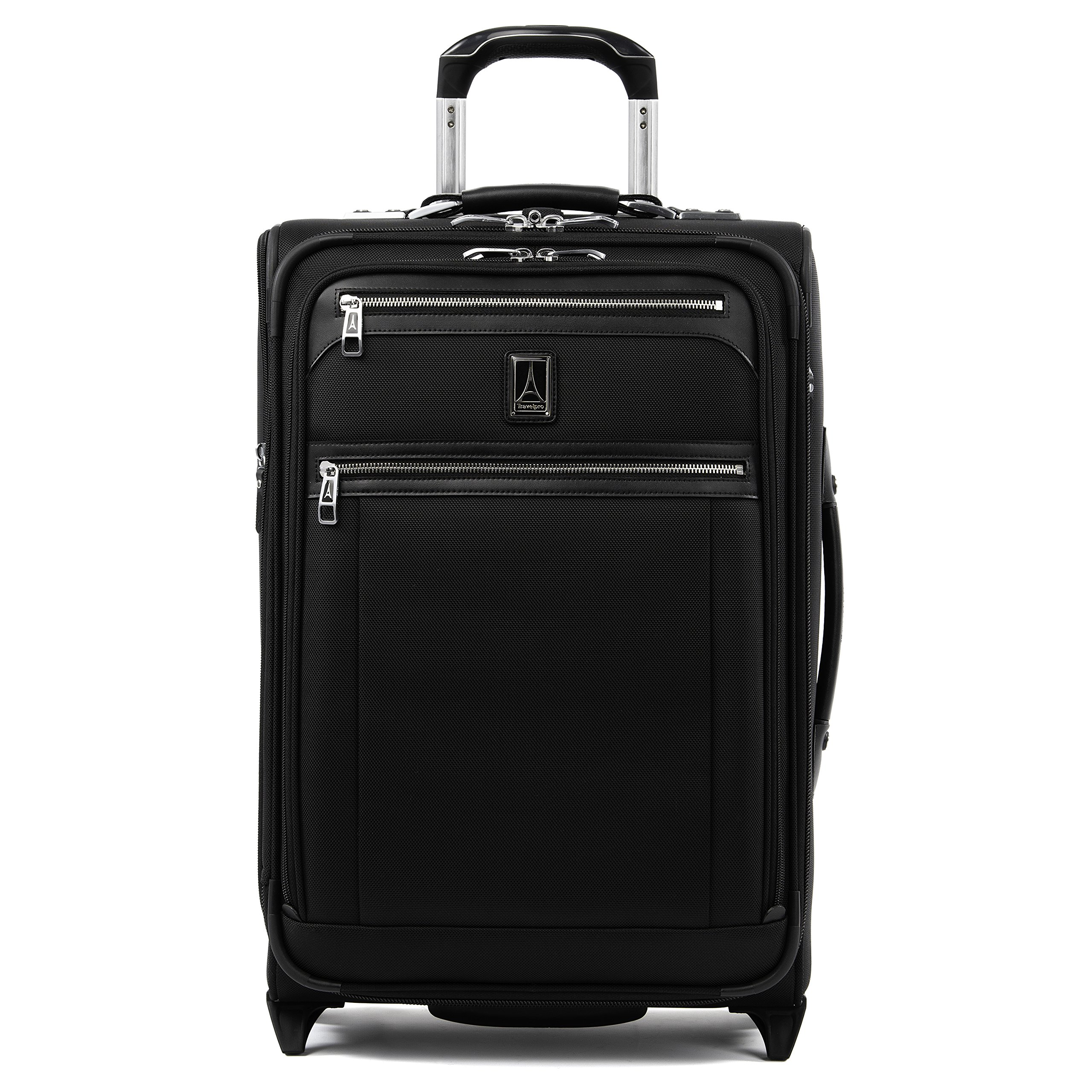 Travelpro Luggage Platinum Elite 22'' Carry-on Expandable Rollaboard w/USB Port, Shadow Black
