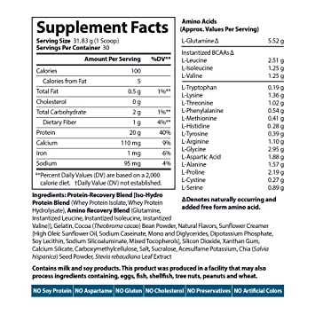 Amazon.com: Siren Labs Isolate Premium Whey Protein Isolate and Hydrolysate with Glutamin for Lean Muscle Growth, Athletic Performance, Recovery - Decadent ...