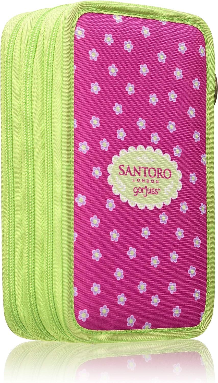 SANTORO GORJUSS Plumier Triple, Monedero Unisex Infantil, Rosa (Fucsia), 7x13x21 cm (W x H x L): Amazon.es: Zapatos y complementos