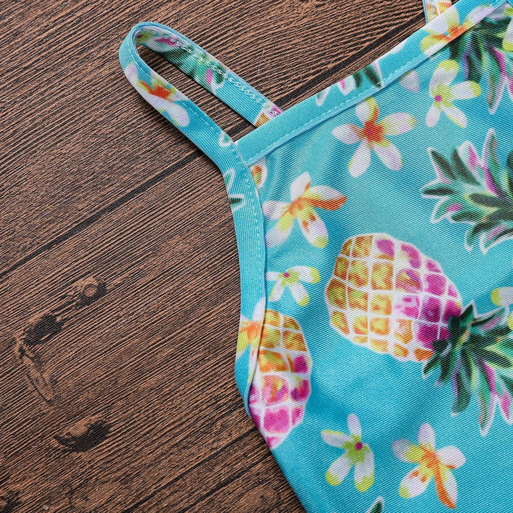 Fashion Infant//Toddler Girls One-Piece Swimsuit Rash Guard Tropical Pineapple Pattern