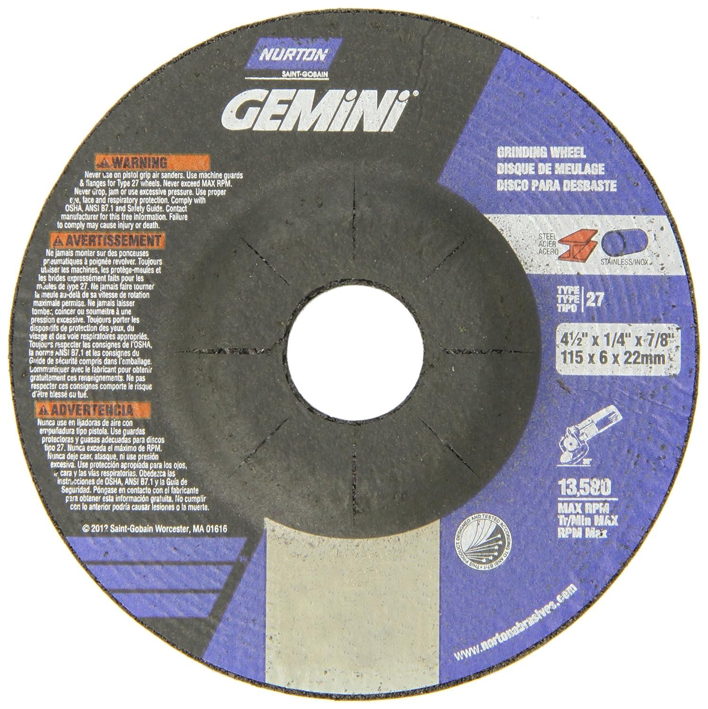 Aluminum Depressed Center Wheel 1//8 in Thick 5//8 in Arbor 36 Pack 4 1//2 in Dia