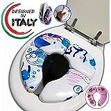 Riduttore Water Bambini - Riduttori WC Portatile Da Viaggio - Per Bimbo E Bimba - Vasino Per Bambino - Imbottito E Pieghevole