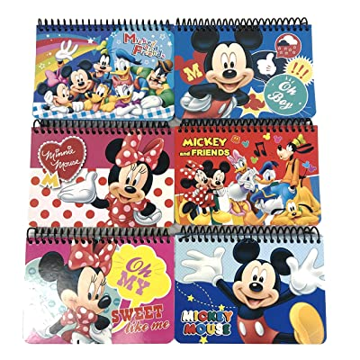 Party Favors Disney Mickey Mouse and Minnie Autograph Note pads Book- 2 pcs: Toys & Games