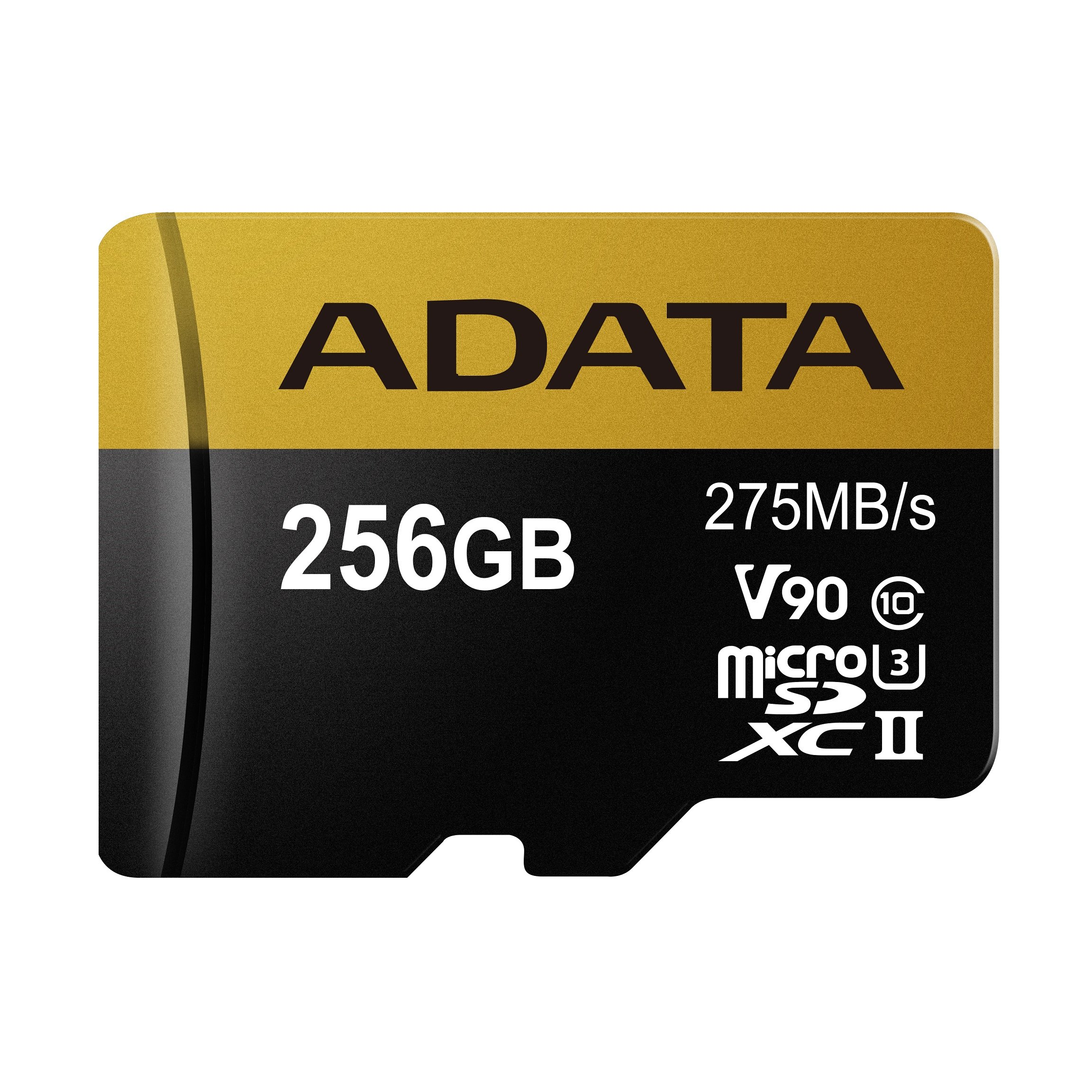 ADATA Premier ONE 256GB SDXC UHS-II U3 Class10 V90 3D NAND 4K 8K Ultra HD 275MB/s Micro SD Card Only (AUSDX256GUII3CL10-C)