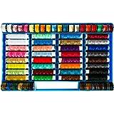 Kurtzy Assortiti 64 Bobine Bobina di filo multicolore in poliestere e coni di cucito Set per cucire, Patching Craft, Quilting, Set di bobine da ricamo per cucire a mano - Con custodia in plastica