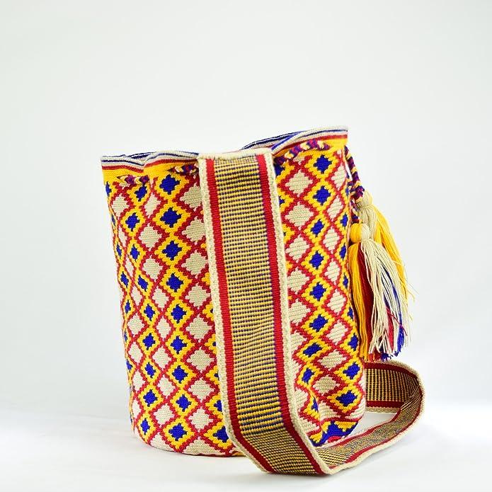 Amazon.com | Wayuu Bag - Large Mochila - Design - Premium - 2518 Brown | Shoes