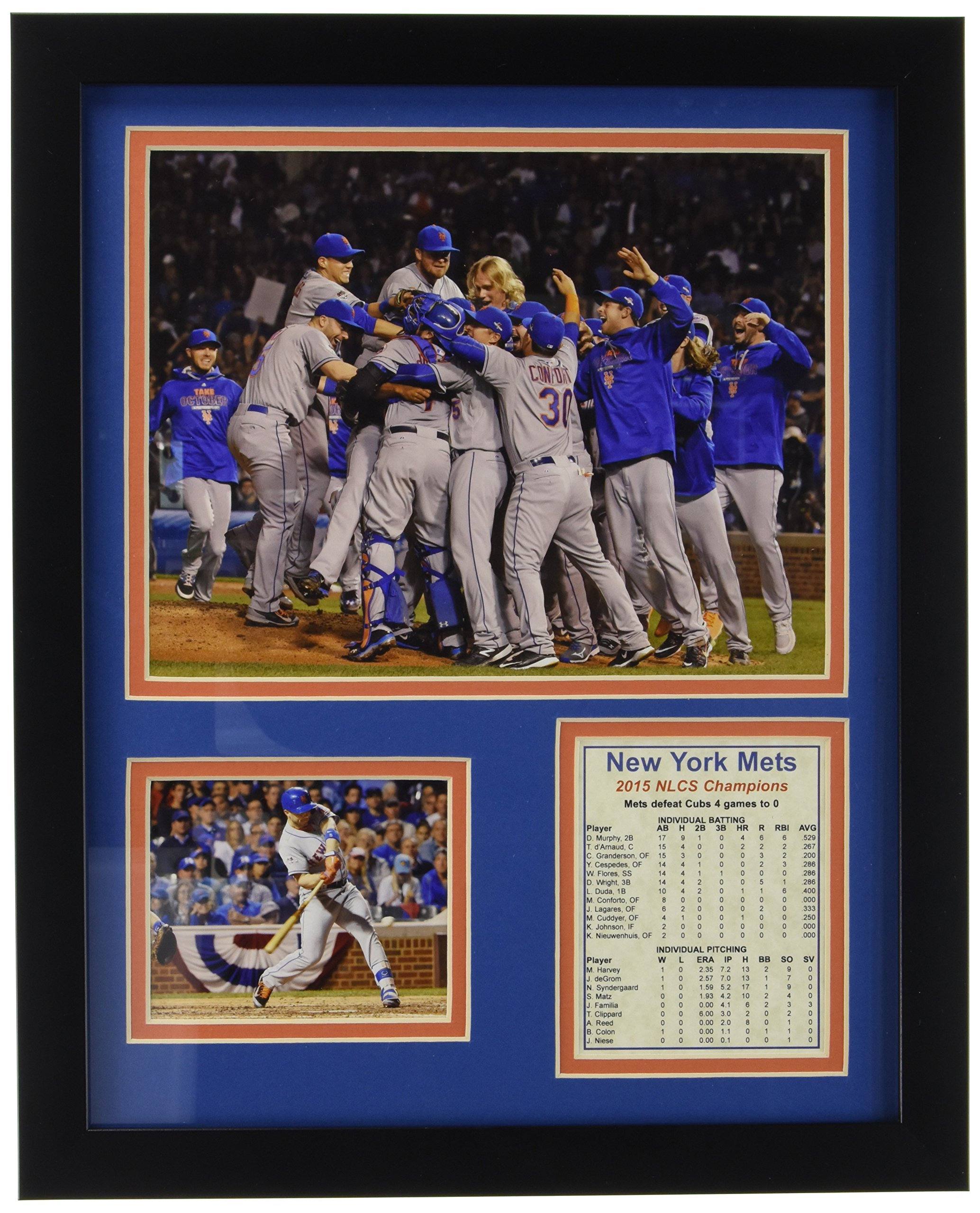 2015 New York Mets NLCS Champions 11'' x 14'' Framed Photo Collage by Legends Never Die, Inc. by Legends Never Die, Inc.