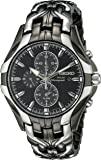 Seiko Men's Excelsior Black Ion Finish Solar Chronograph Watch