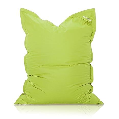 Livodoo® XXL Puf gigante verde 140 x180cm 400 litros puff xxl puff asiento cojin gigante relleno puff con saco interior en verde